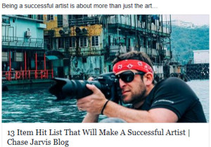 Chase Jarvis-Success Hit List